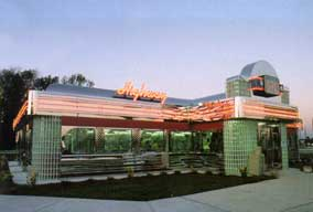 stainless steel diner exterior